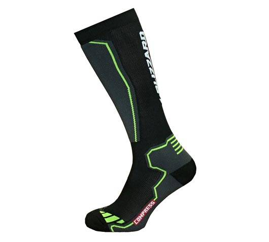 Ponožky Blizzard Compress 85 Ski Socks black/yellow