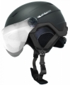 Helma Blizzard Double Visor black matt/silver mirror